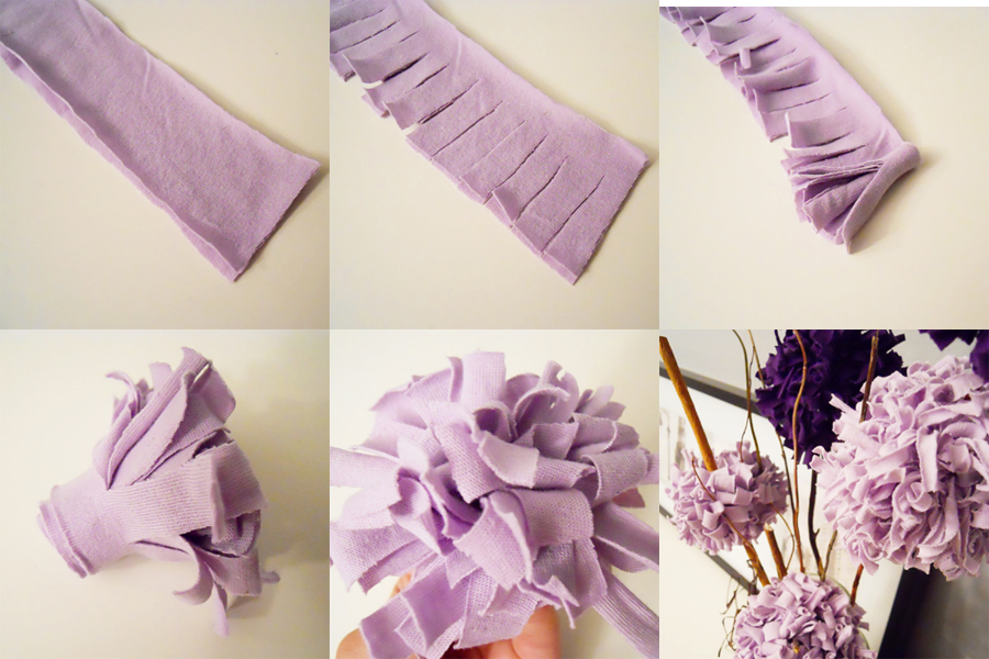 jersey flowers step by step