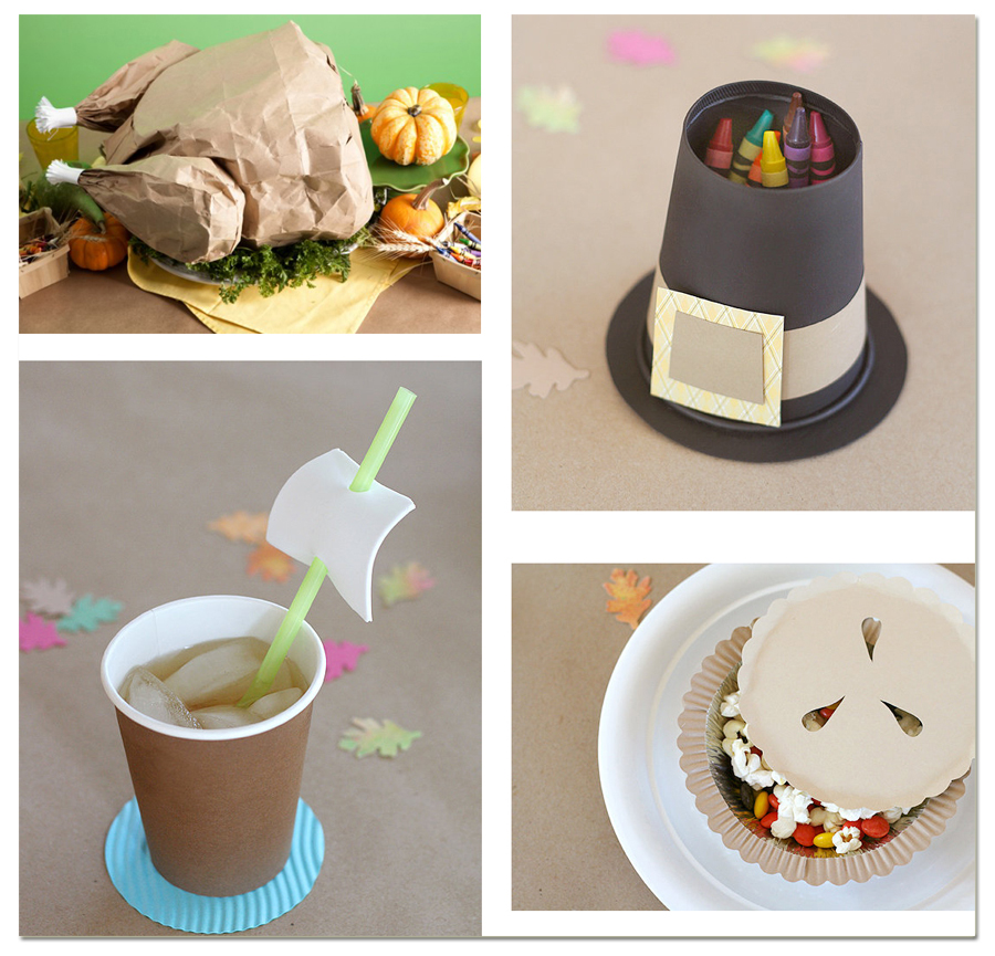 Let's Party: Cute Kid's Thanksgiving Table Decorations and Crafts ...