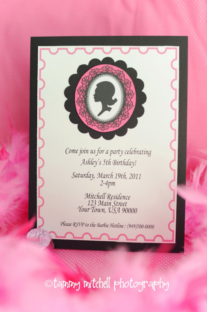 Printable Party Collections Vintage Barbie Birthday And Favor