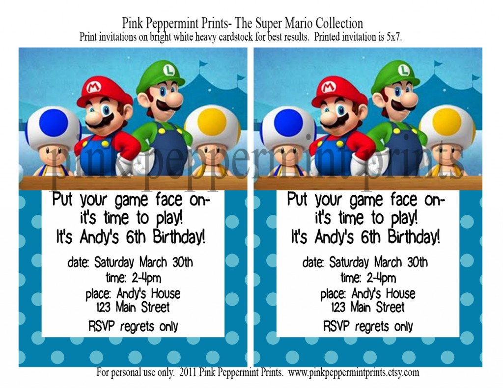 Let S Party Super Mario Brothers Party Collection Tammy Mitchell