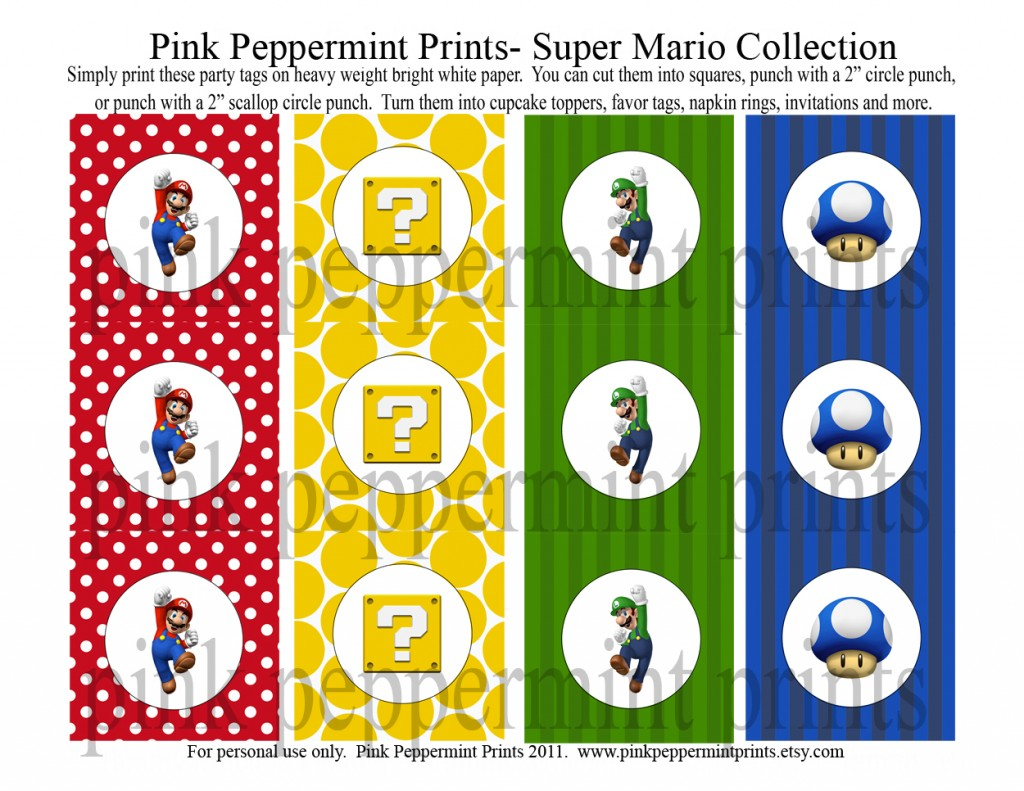 Let's Party: Super Mario Brothers Party Collection » Tammy ...