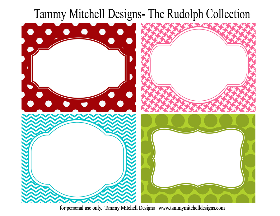 Free Printable Label Shapes