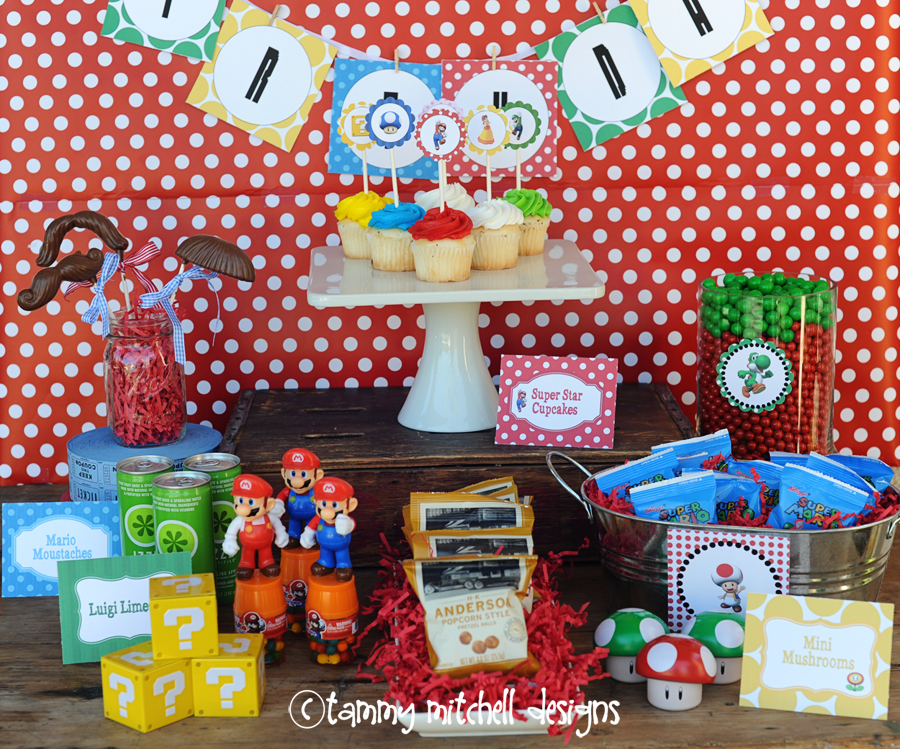 BOY PARTIES: VIDEO GAME PARTIES Super Mario Brothers Party Ideas ...