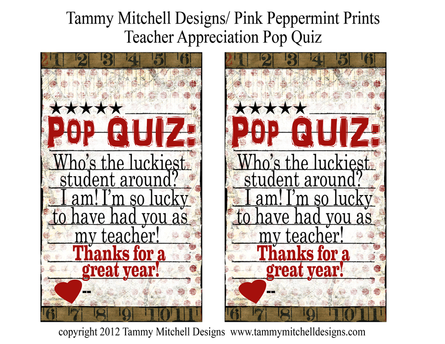 Free Teacher Appreciation Ideas Pink Peppermint Design