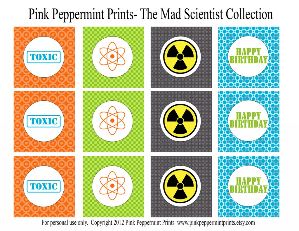 Printable Parties: New Mad Science Printable Party ...