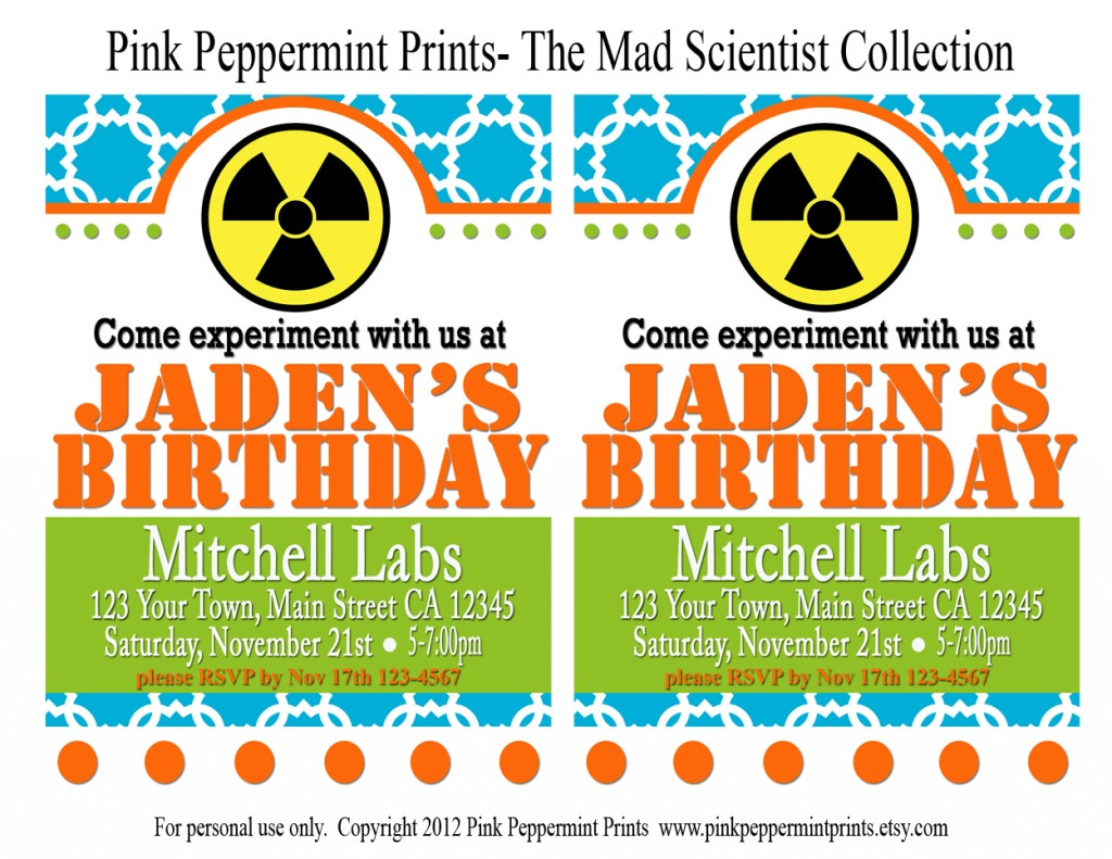 image about Printable Mad Science Sign named Printable Get-togethers: Clean Crazy Science Printable Celebration