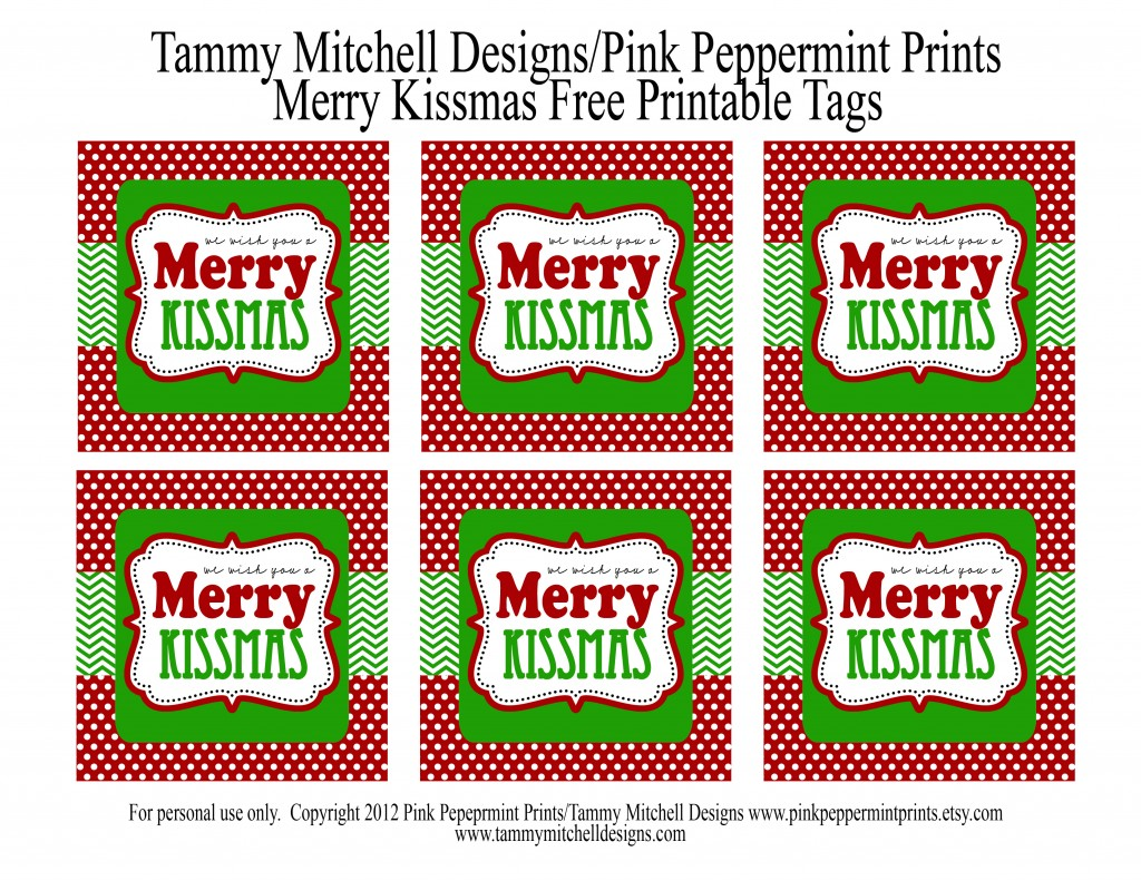 freebie free printable christmas tag we wish you a merry kissmas