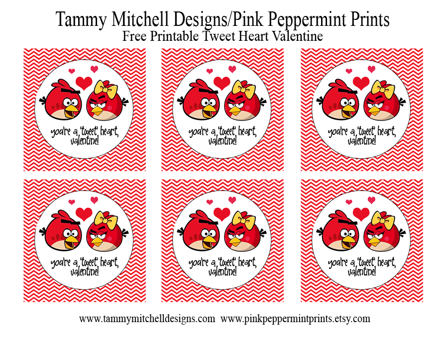 Tweet Heart Valentine Free Printables. Enjoy!!