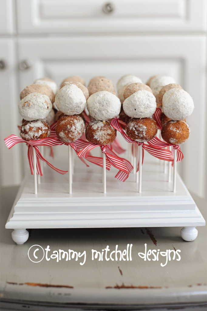Easy DIY Party Food Donut Holes On A Stick